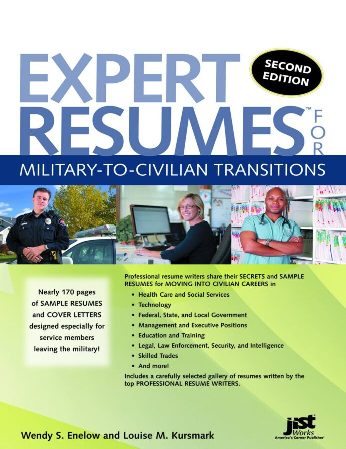 expert resumes for military to civilian transitions second edition enelow kursmark books Resume Resume Writing Service For Military To Civilian