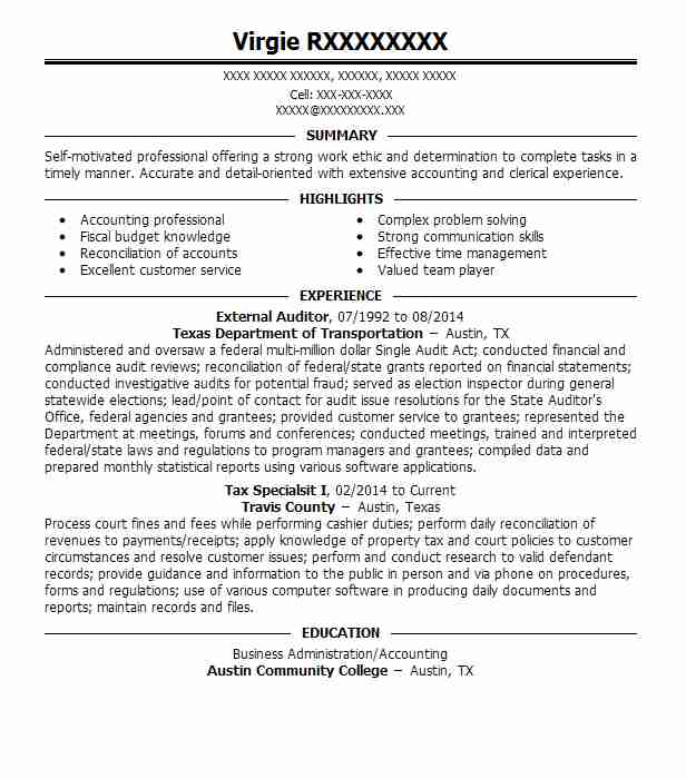 external auditor resume example resumes livecareer public accounting applicant tracking Resume Public Accounting Auditor Resume