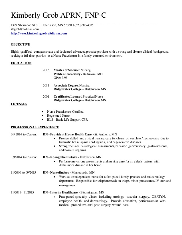 family nurse practitioner resume great keywords for perfect summary funny skills banking Resume Family Nurse Practitioner Resume