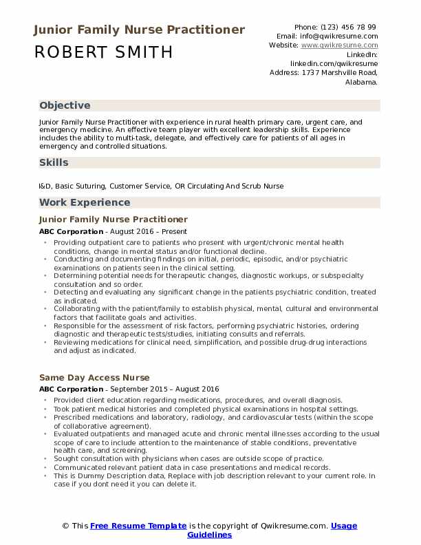 family nurse practitioner resume samples qwikresume pdf dental technician example student Resume Family Nurse Practitioner Resume