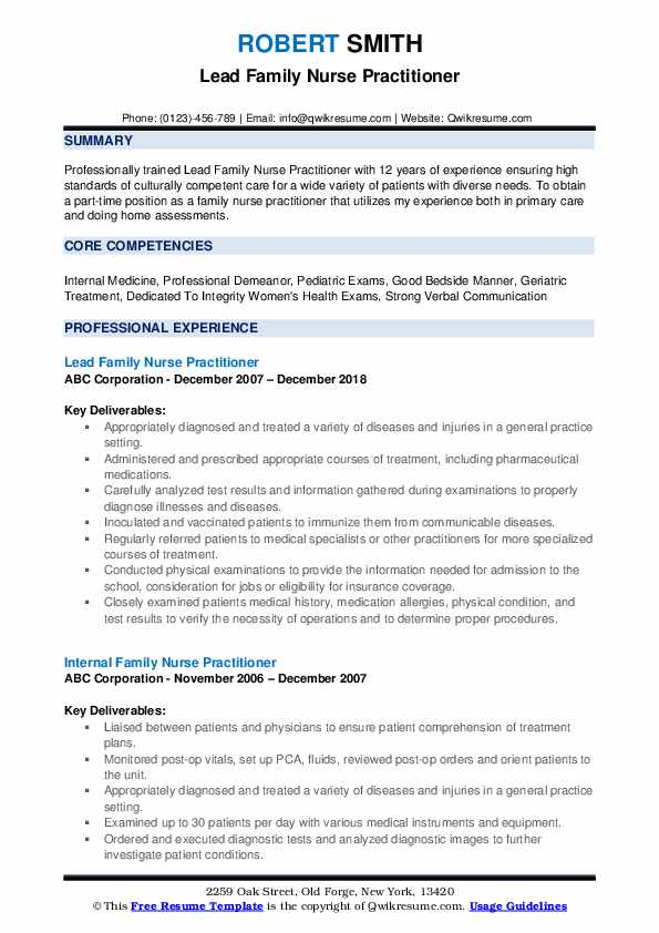 family nurse practitioner resume samples qwikresume pdf examples for cabin crew interview Resume Family Nurse Practitioner Resume