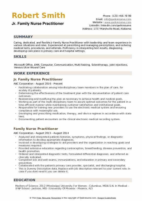 family nurse practitioner resume samples qwikresume primary care pdf computer service Resume Primary Care Nurse Practitioner Resume