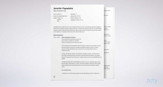 federal resume template format examples example linkedin ats community service worker Resume Federal Resume Example 2020