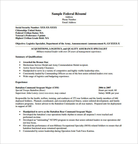 federal resume template free word excel pdf format premium templates example for internal Resume Federal Resume Example 2020