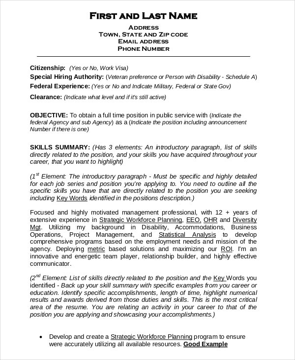 federal resume template free word excel pdf format premium templates example for Resume Federal Resume Example 2020