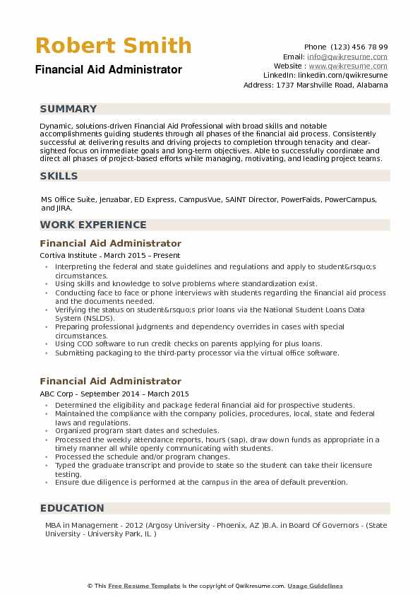 financial aid administrator resume samples qwikresume fafsa application pdf help making Resume Resume Fafsa Application