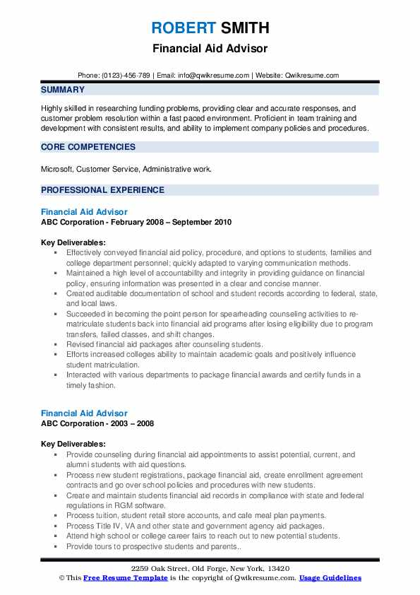 financial aid advisor resume samples qwikresume fafsa application pdf example of catering Resume Resume Fafsa Application