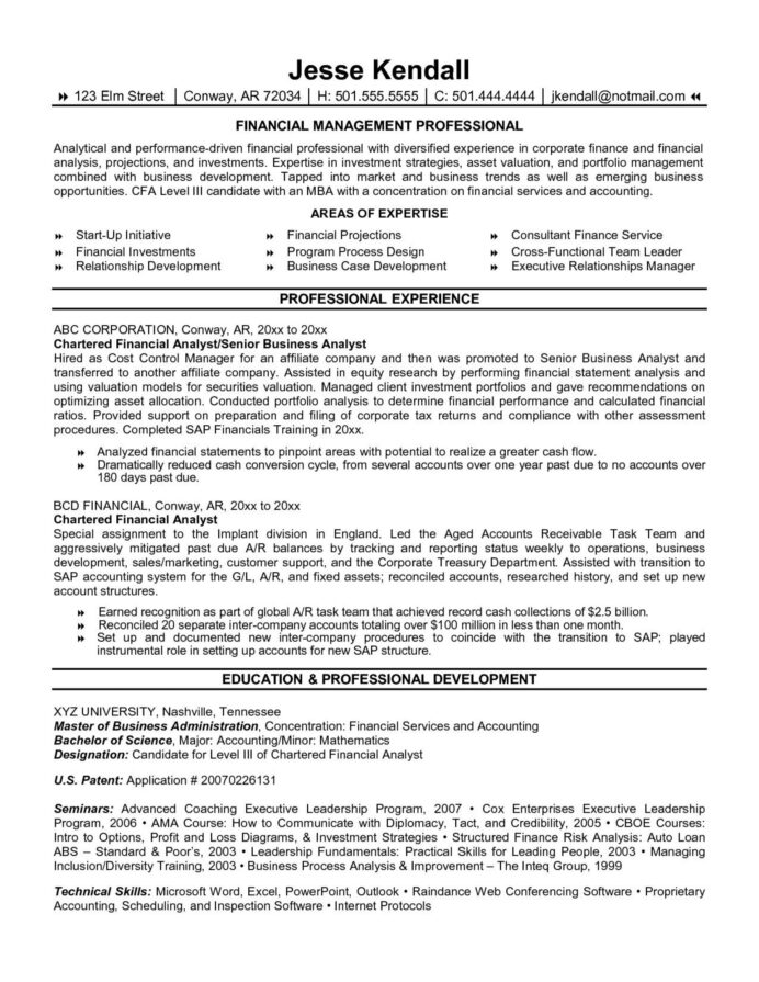 financial analyst finance resume template word frightening high cfo cover letter business Resume Financial Analyst Resume Template Word