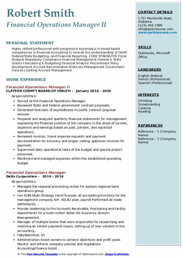 financial operations manager resume samples qwikresume pdf entry level drafter sample Resume Financial Operations Manager Resume