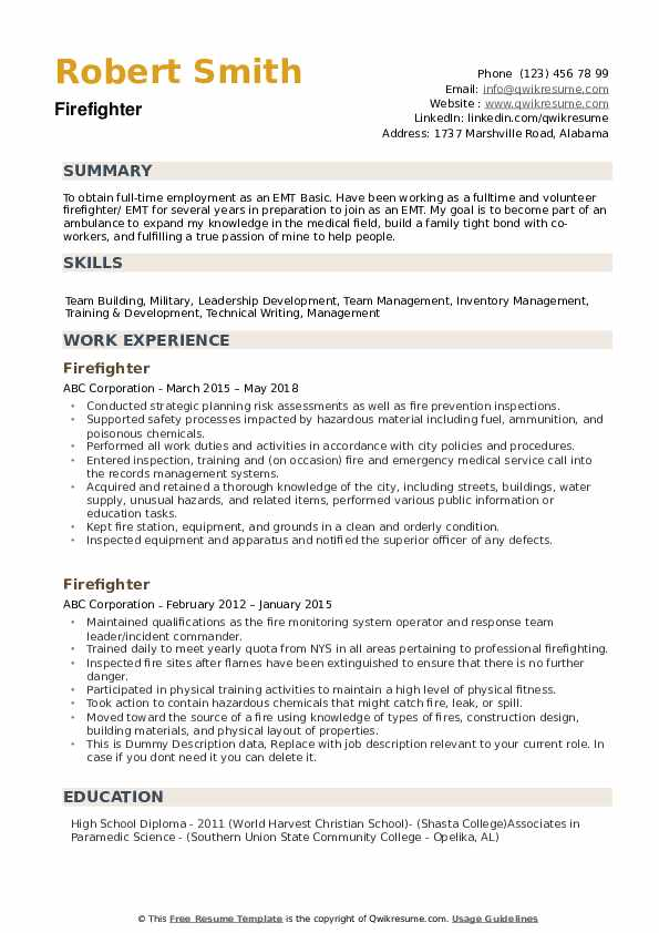 fire fighter resume samples qwikresume firefighter skills for pdf paper interview acting Resume Firefighter Skills For Resume