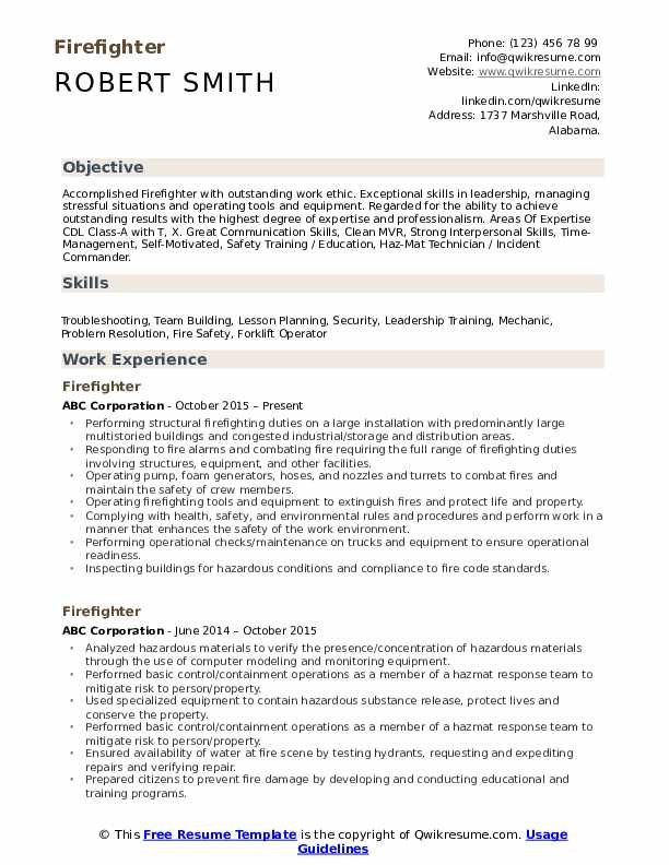 fire fighter resume samples qwikresume firefighter skills for pdf simple first time job Resume Firefighter Skills For Resume