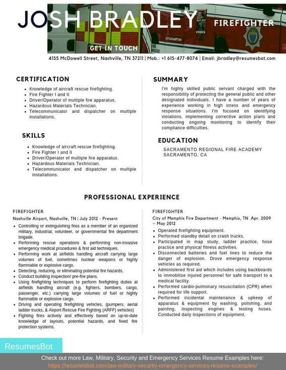 firefighter resume samples and tips pdf resumes bot skills for example cancel help Resume Firefighter Skills For Resume