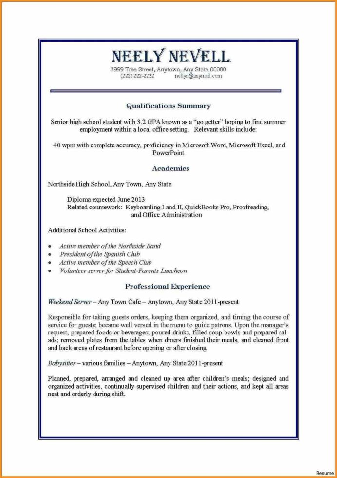 first job resume examples sarahepps with time and part jobs resu samples student template Resume High School Student Resume Examples First Job