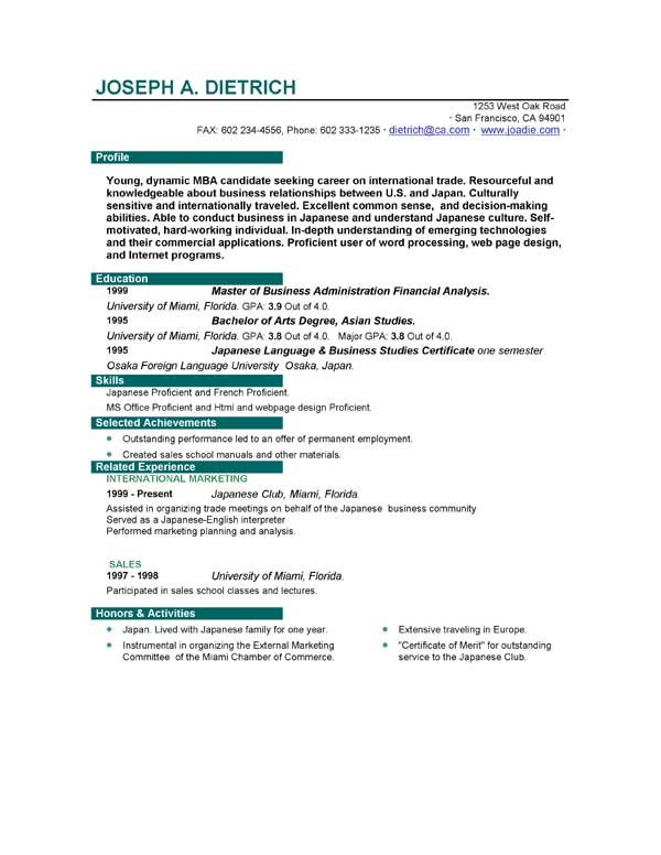 first job sample resume resumes making for the time cosmetology example recent graduate Resume Making A Resume For The First Time