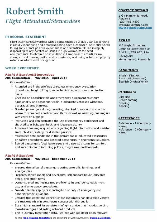flight attendant resume samples qwikresume examples pdf email subject for sending credit Resume Flight Attendant Resume Examples