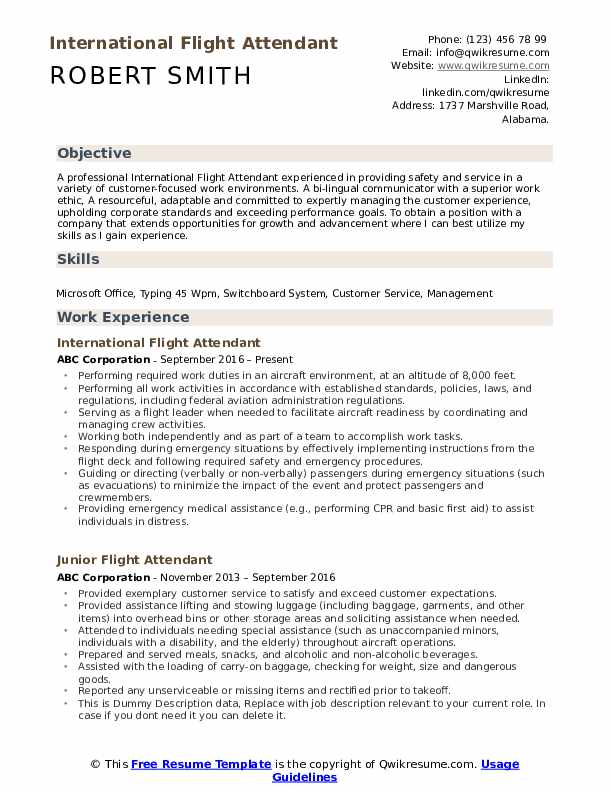 flight attendant resume samples qwikresume examples pdf owl tableau years experience Resume Flight Attendant Resume Examples