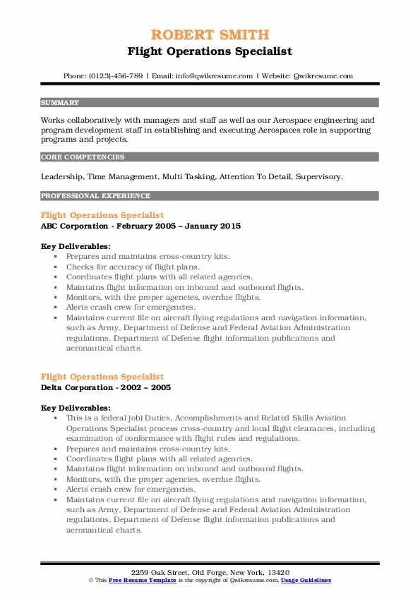 flight operations specialist resume samples qwikresume pdf digital objective for any type Resume Flight Operations Resume
