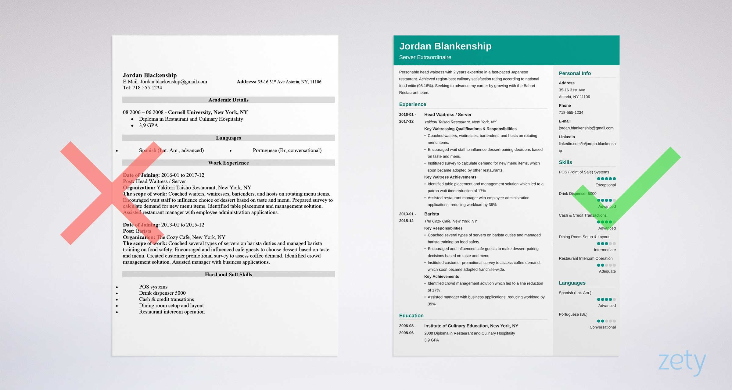food service resume examples with skills job description template for worker sample Resume Resume Template For Food Service Worker