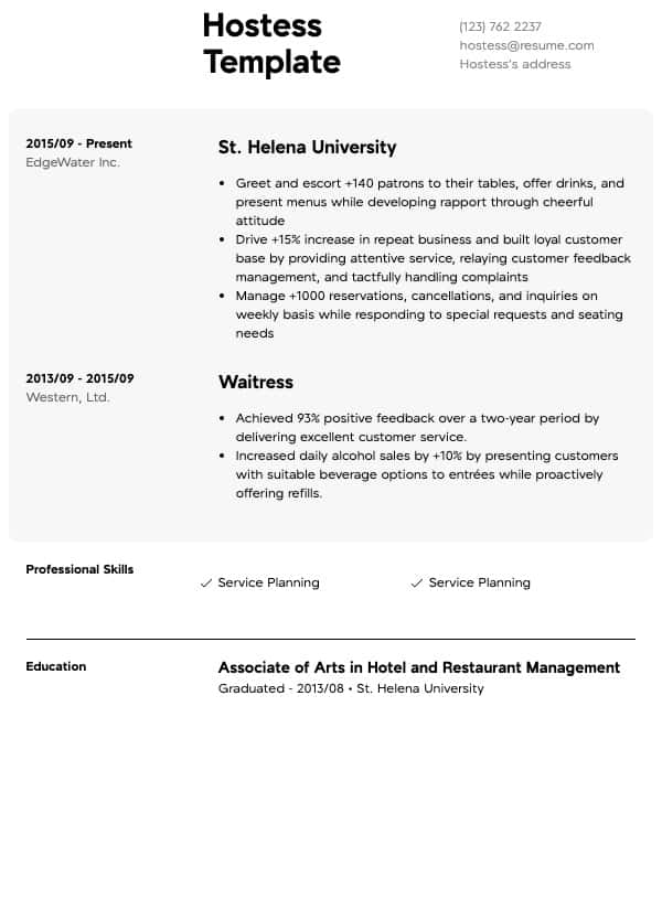 food service resumes resume samples all experience levels template general services Resume Food Service Resume Template