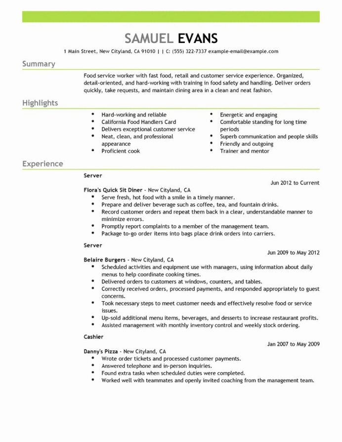 food service worker job description resume awesome resumes cv in examples good samples Resume Resume Template For Food Service Worker