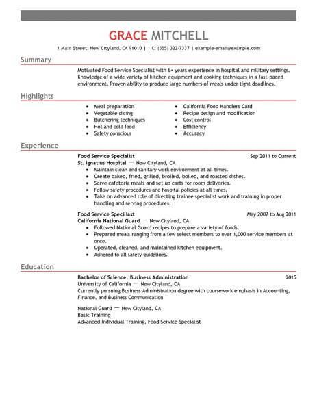 for food service resume samples format examples summary dsp skills rpa uipath developer Resume Food Service Resume Examples