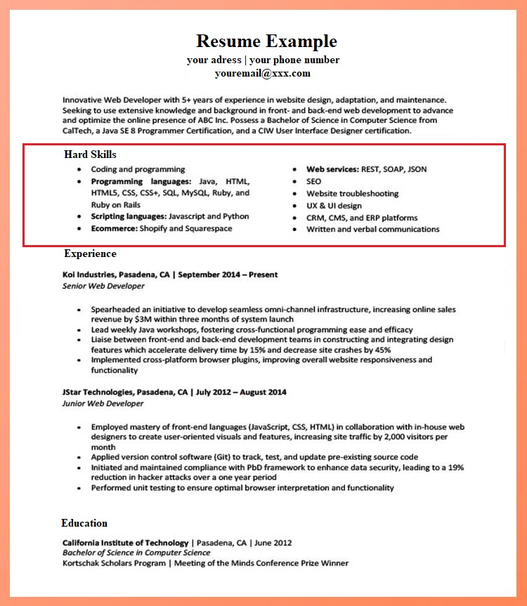 for skills resumes examples resume format section of example teacher template free Resume Skills Section Of Resume Example