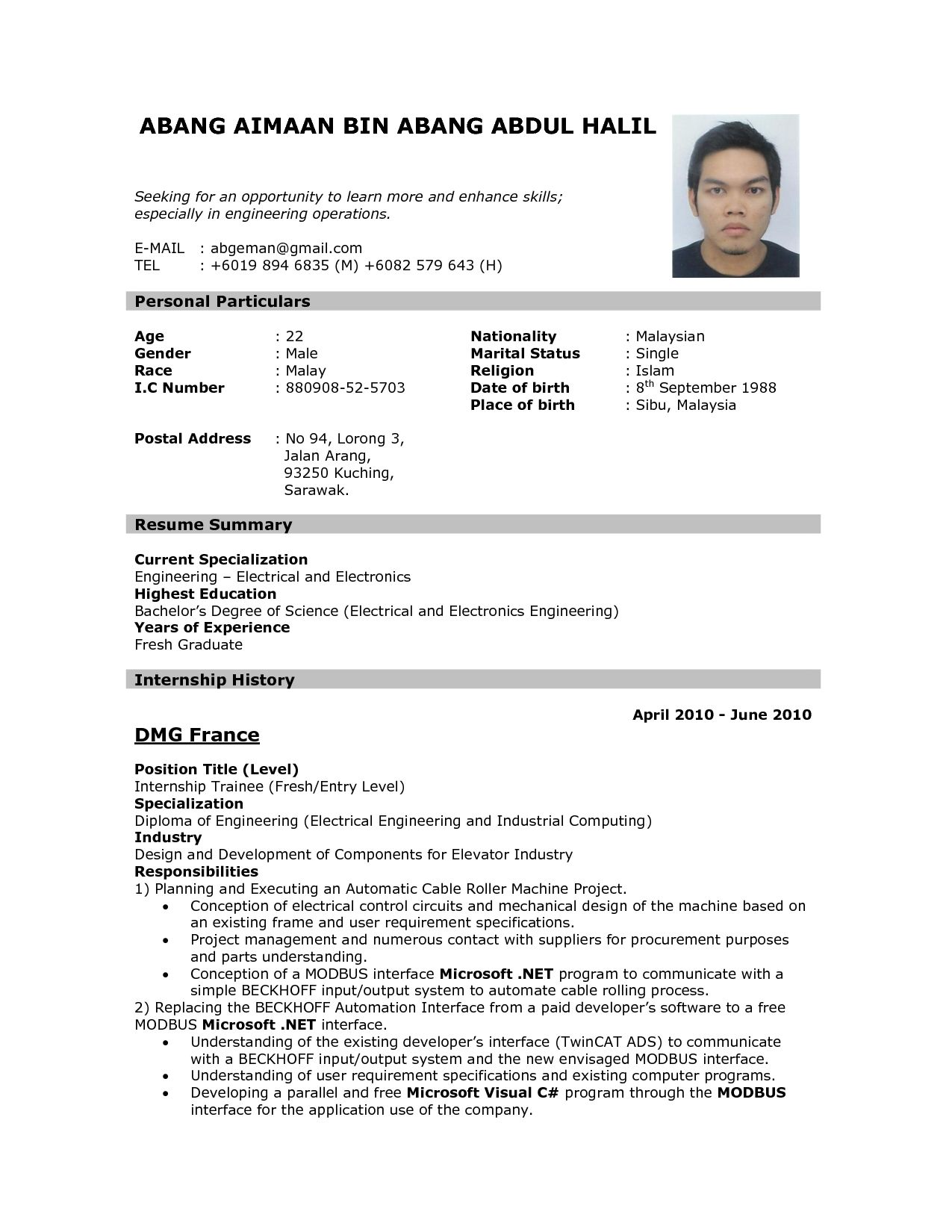 format of resume for job application to data sample the applying template examples dop Resume Job Examples For Resume
