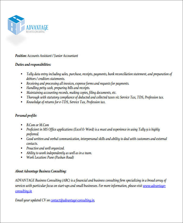 free accountant resume templates in ms word latest format for example of junior resume1 Resume Latest Resume Format For Accountant