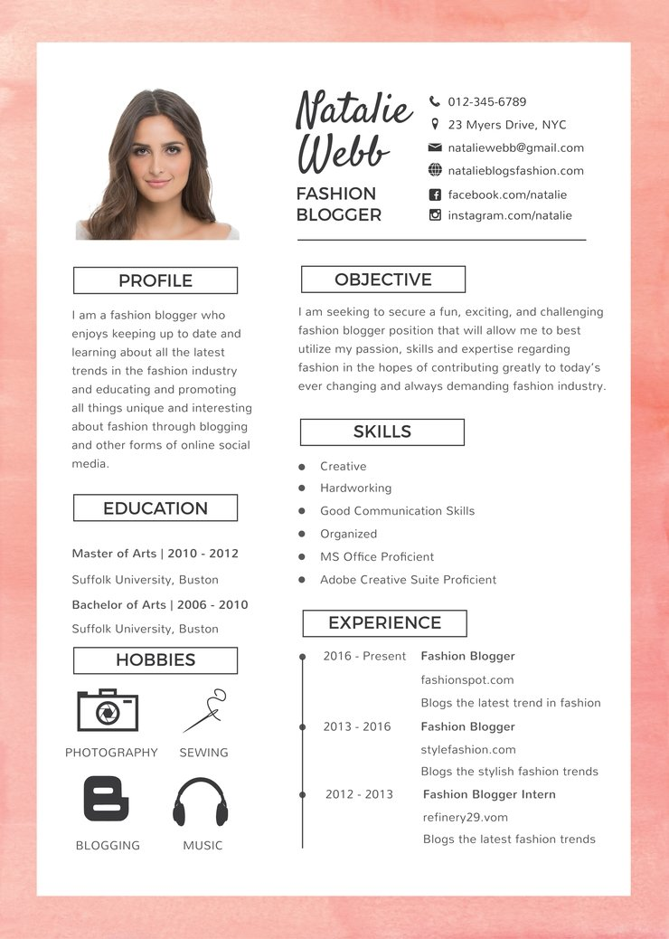 free best fashion resume cv template in photoshop illustrator creativebooster model Resume Fashion Model Resume Template