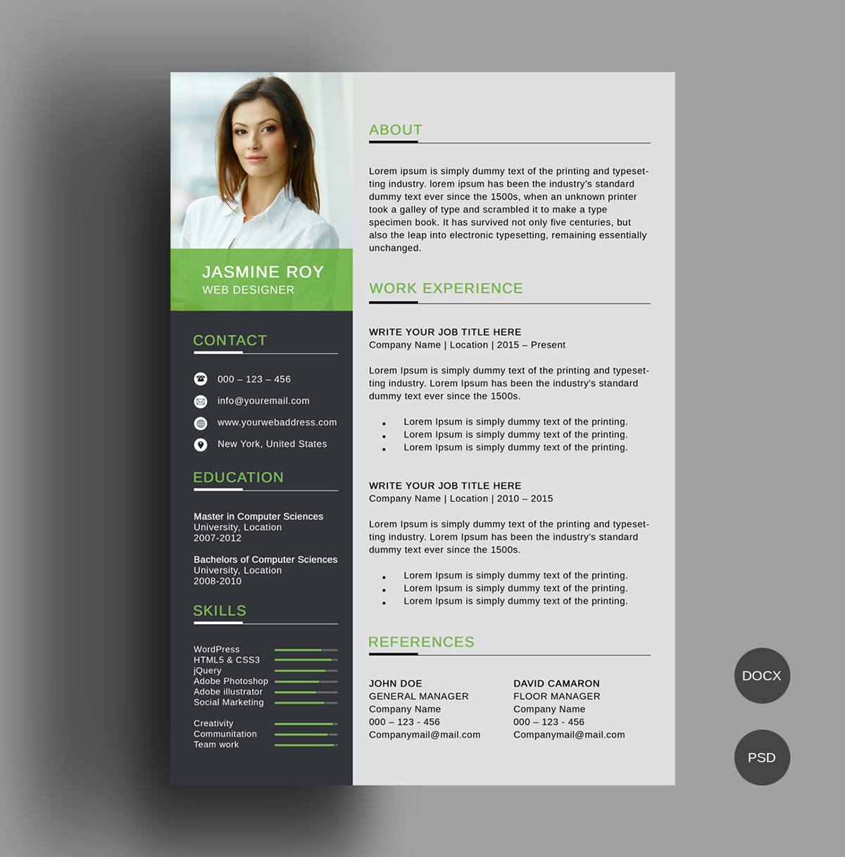 free clean cv resume template on behance and templates european format sample employment Resume Cv And Resume Templates Free