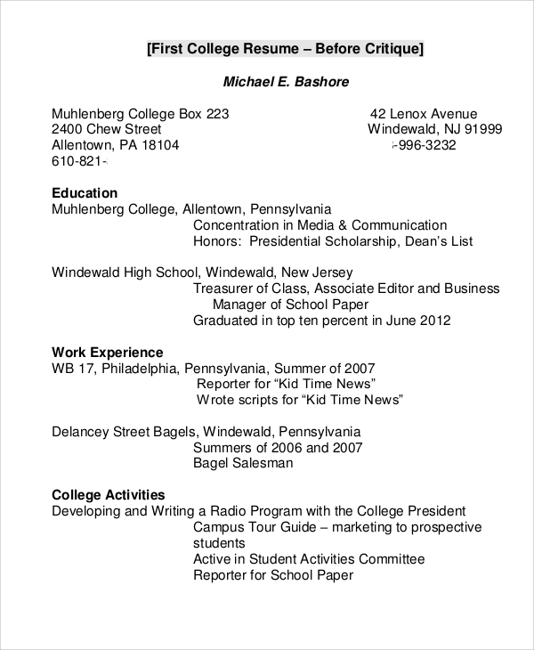 free college resume samples in ms word pdf good templates for students example students2 Resume Good Resume Templates For College Students