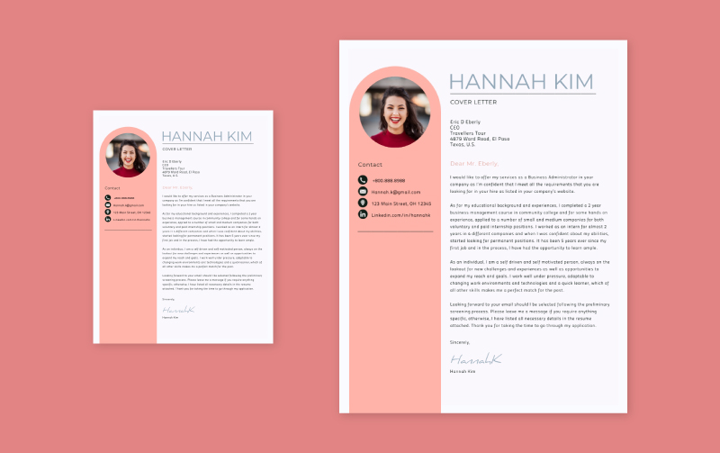 free cover letter builder quick letters in visme resume and coverletters header4 good Resume Resume And Cover Letter Builder