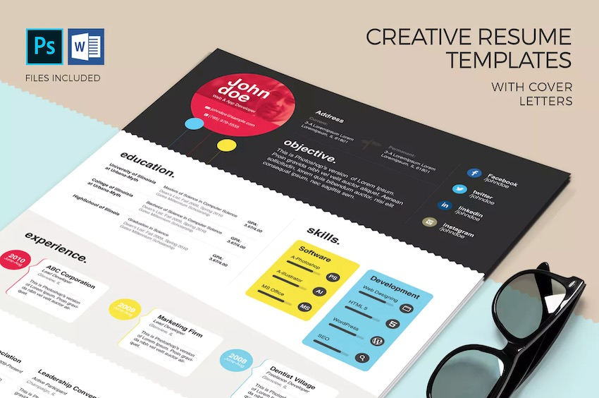 free creative resume templates word downloads for attractive en colorful template Resume Free Attractive Resume Templates