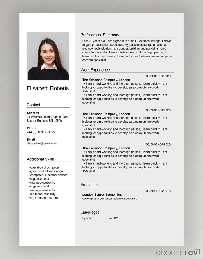 free cv creator maker resume builder pdf create example sample easy template english Resume Create Resume Pdf Free