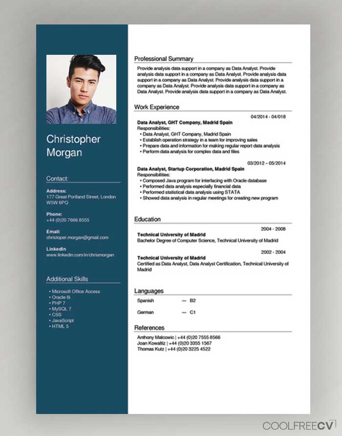 free cv creator maker resume builder pdf fill out for english example wizard sample Resume Fill Out A Resume Online For Free