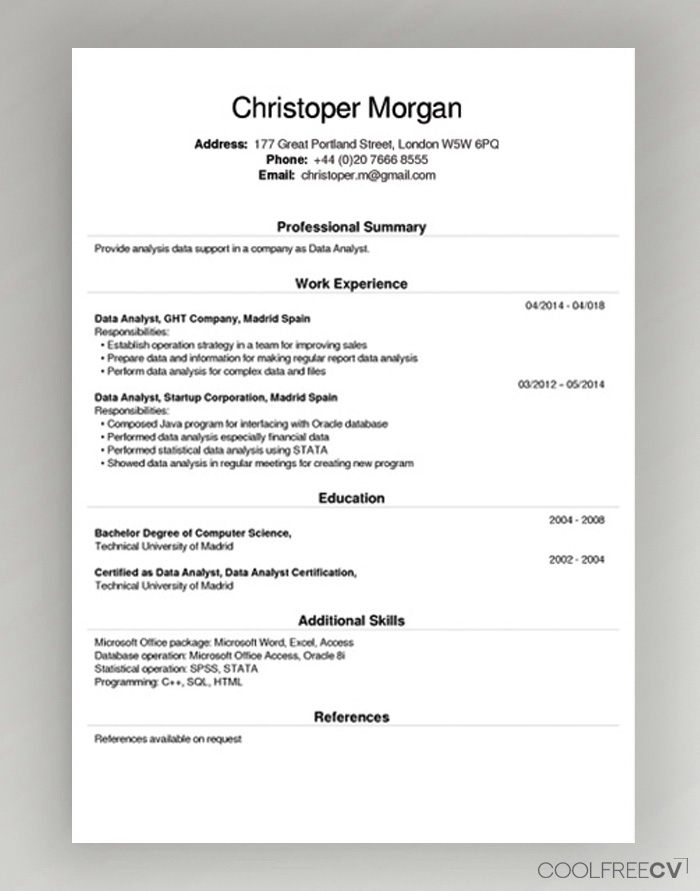 free cv creator maker resume builder pdf fill out for example cashier job format bsc Resume Fill Out A Resume Online For Free