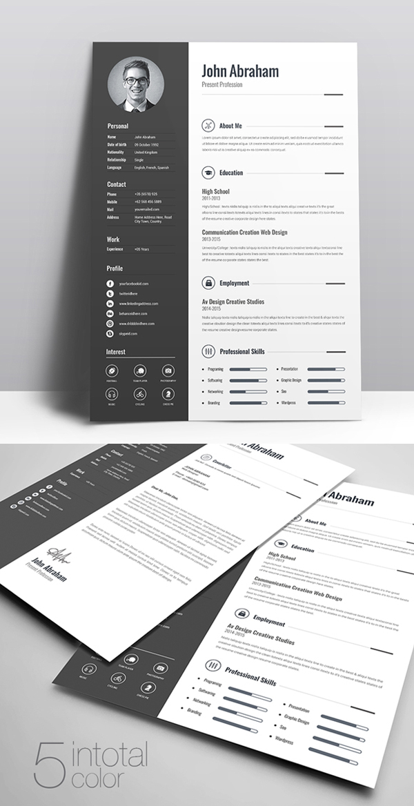 free cv resume templates best for design graphic junction the jeff bezos cna experience Resume The Best Free Resume Templates