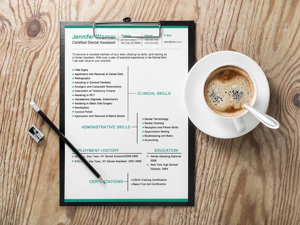 free dental resume template with clean and modern look templates medical collector sample Resume Free Dental Resume Templates
