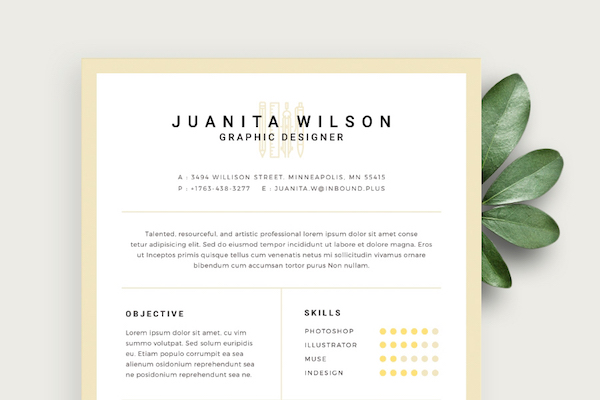 free eye catching résumé templates to help you stand out from the crowd designtaxi Resume Eye Catching Resumes Templates Free