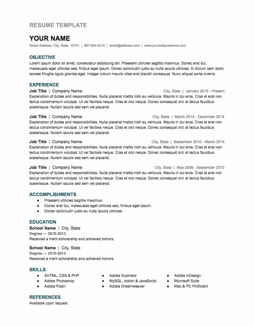 free google docs and spreadsheet templates smartsheet sheets resume template ic sous chef Resume Google Sheets Resume Template