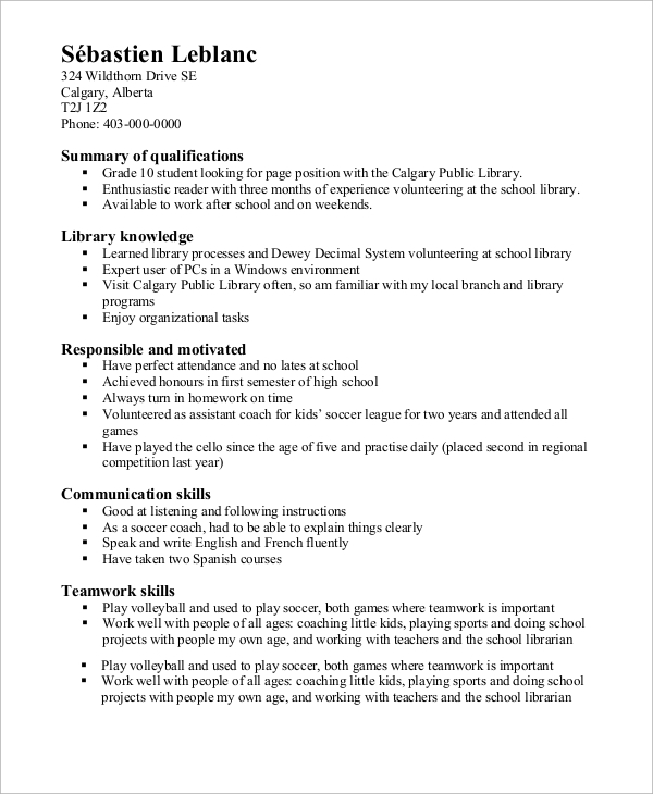 free high school resume samples in ms word pdf summary on for student functional example Resume Summary On Resume For High School Student