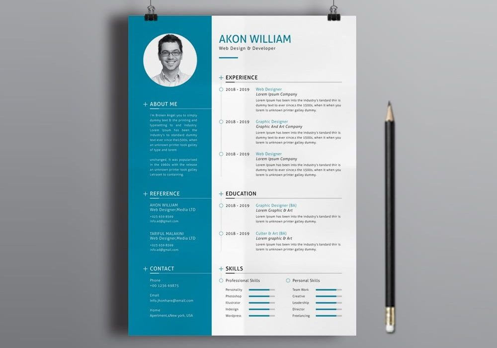 free illustrator modern resume template maxresumes 1000x700 qtp test engineer law Resume Free Modern Resume Template 2020
