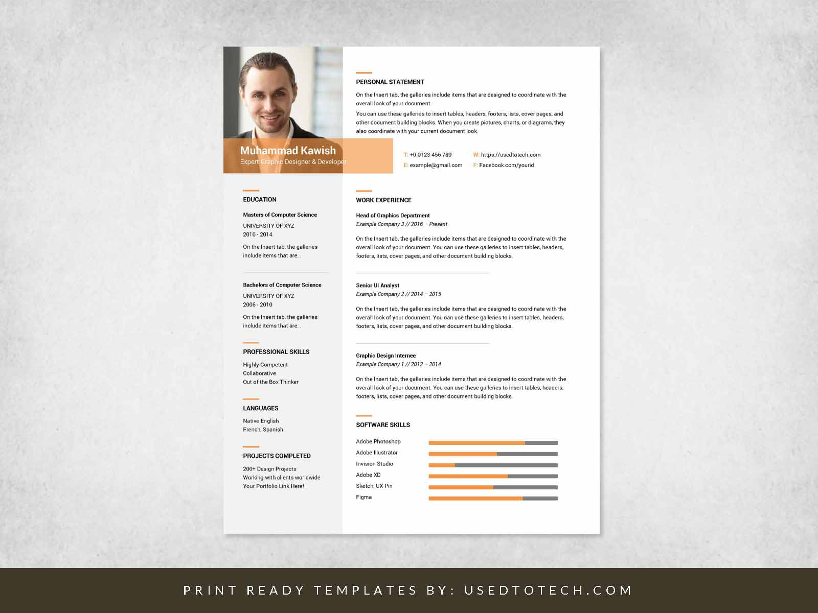 free inspiring graphic designer resume in ms word used to tech design professional Resume Graphic Designer Resume Design