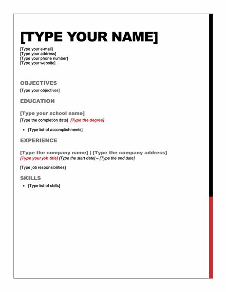 free microsoft word resume templates for template sample examples quick and easy exchange Resume Quick And Easy Resume