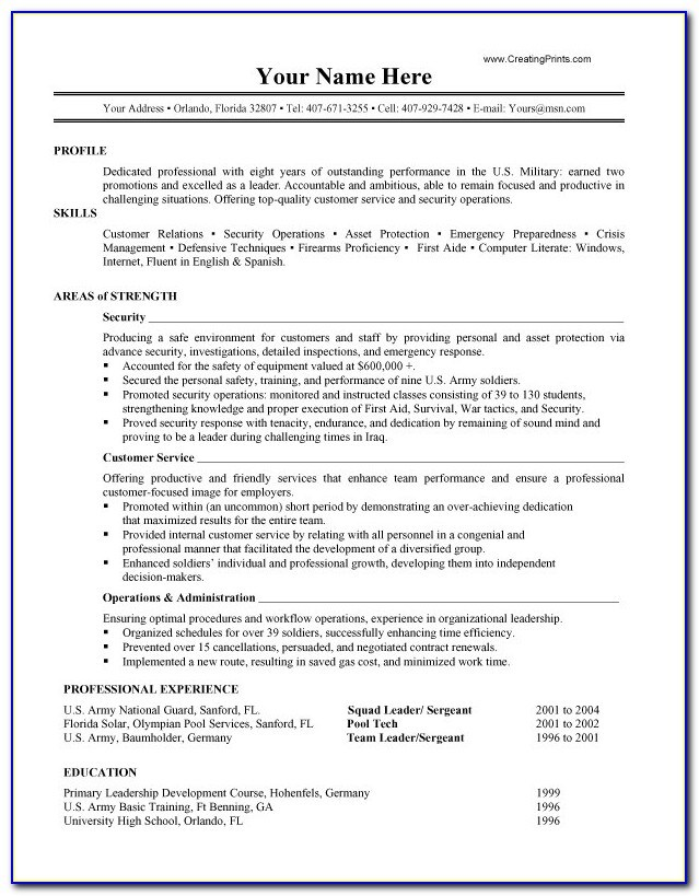 free military resume templates vincegray2014 service spouse builder patient care Resume Professional Military Resume Writers
