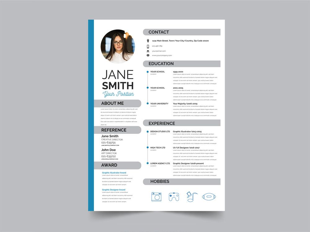 free modern flat resume template cv best with administrative assistant admin sample Resume Modern Resume Template With Picture