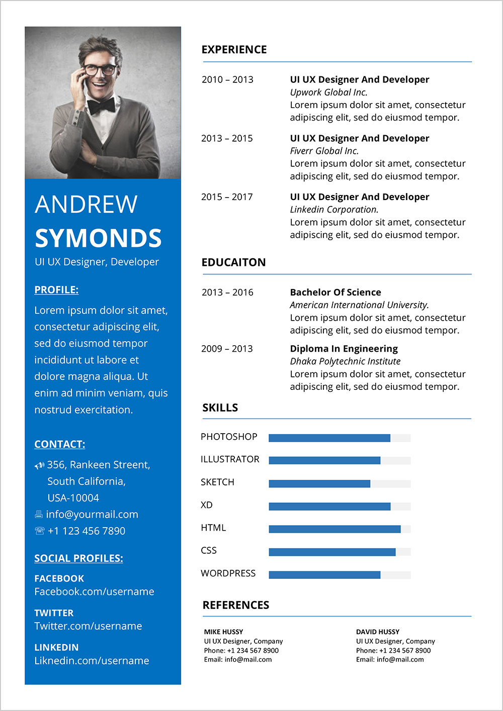 free modern resume template in word format good with bhms medical for hospital sharm el Resume Modern Resume Template With Picture