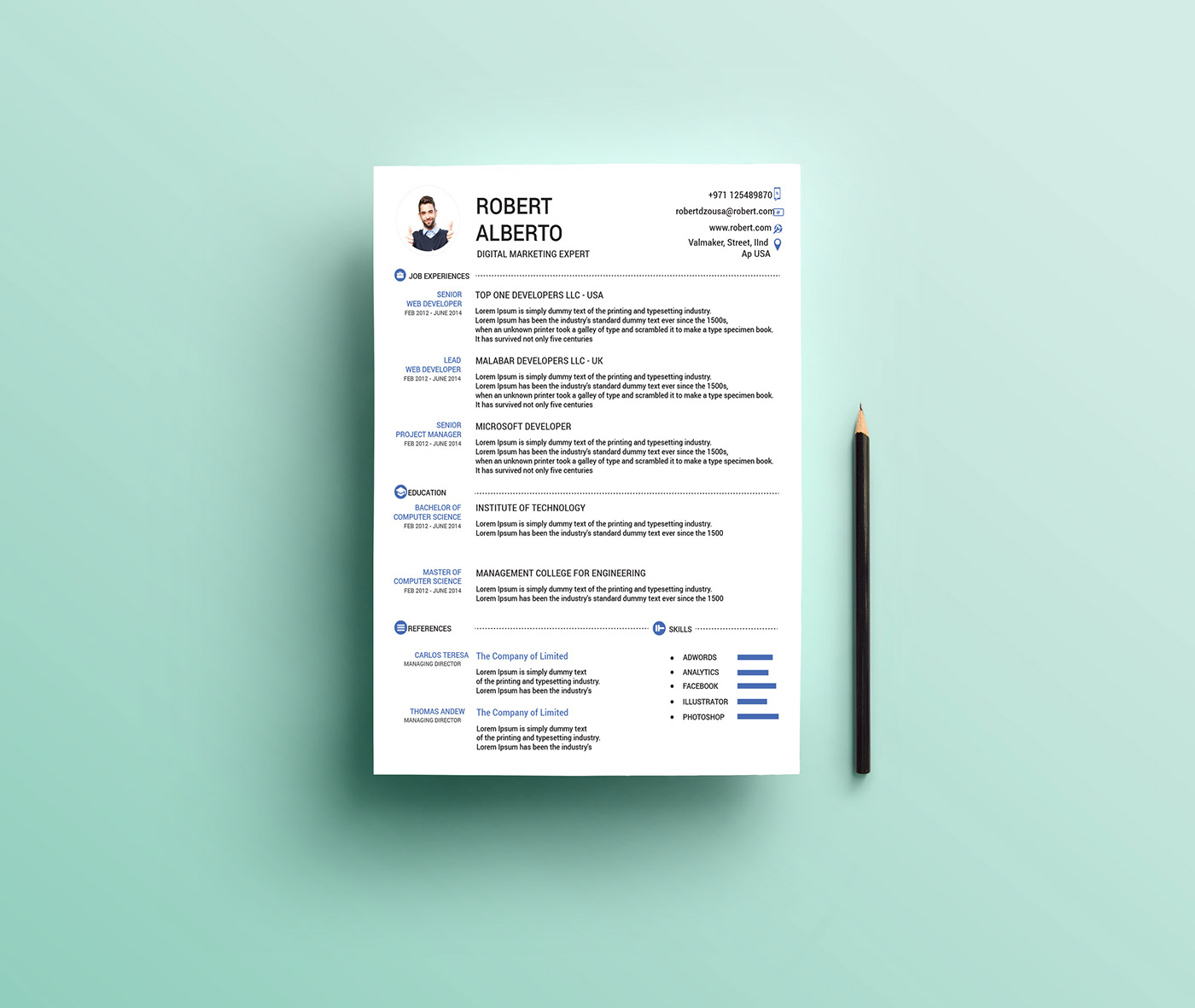 free one resume templates creator clean microsoft word template human resources assistant Resume One Page Resume Creator