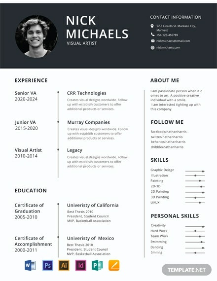 free one resume templates word indesign apple publisher illustrator template net sample Resume One Page Resume Sample