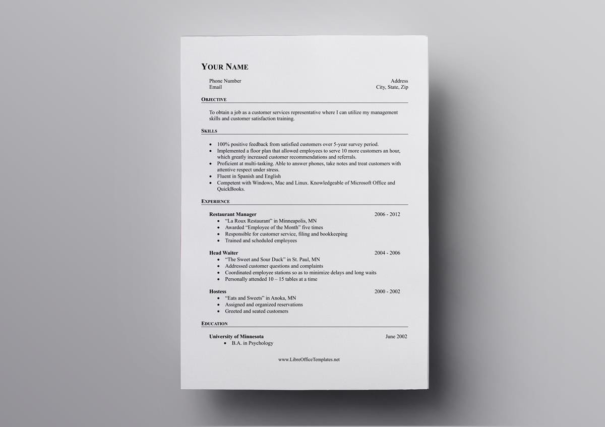free openoffice resume templates also for libreoffice office mac open template insurance Resume Resume Templates Office Mac